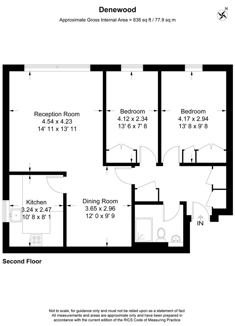 Floorplan for Denewood, Worple Road, Wimbledon
